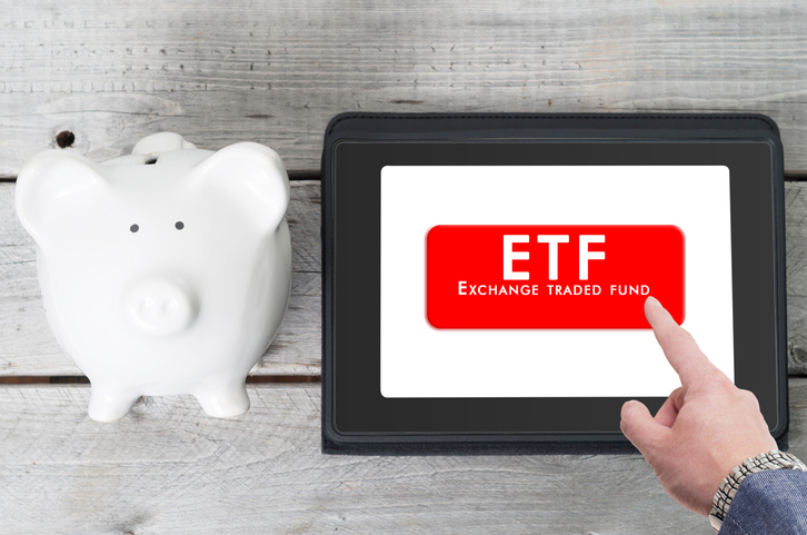 letters ETF on an iPad